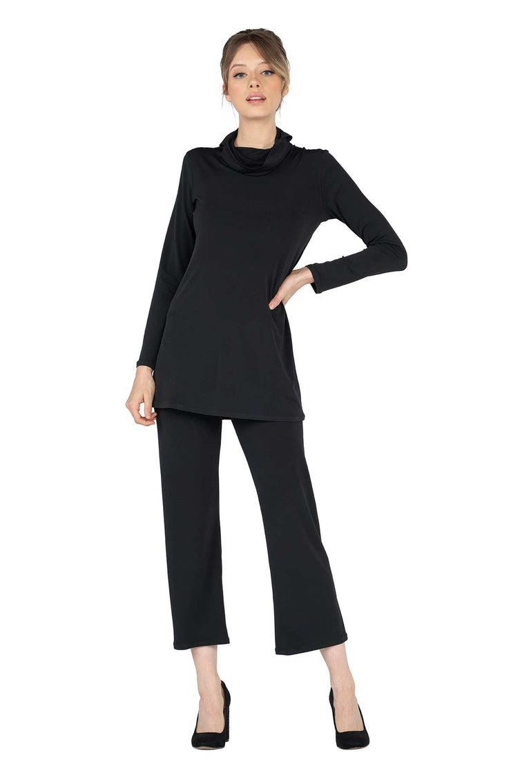 Long Sleeve Turtle Neck w/ Ear Openings Tunic