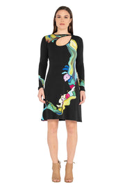 Loop 1 Button L/SL Dress