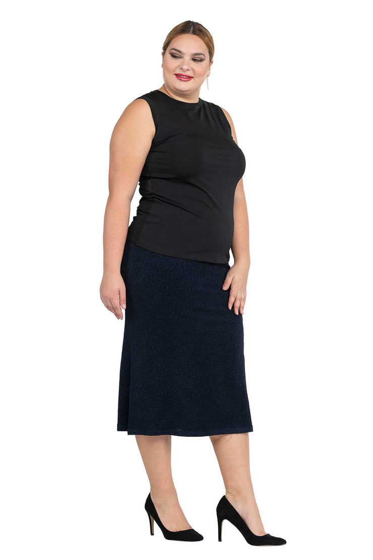 Plus Size 3 Back Gores Godet Skirt