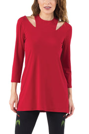 3/4 SLV Two Necklines Tunic
