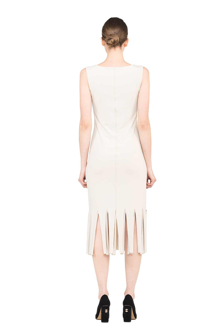 Sleeveless Triple Layered New Fringe Dress