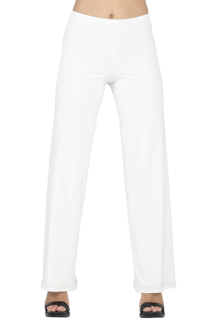 "3.5"" Yoke Straight High Elastic Waist Lined Long Pant"