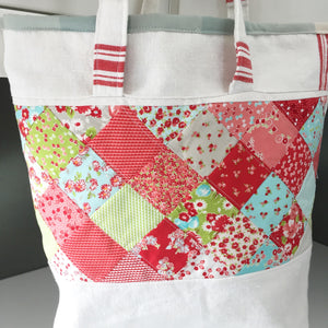 Repurposed Vintage Tea Towel Tote