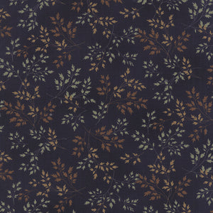Navy from the Southern Exposure collection is a deep rich navy adorned with delicate whispy grasses in harvest muted country oranges, burnt reds and muted blues.