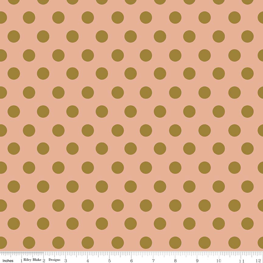 Dot Coral is a sweet print with a coral pink background adored with sparkly gold dots and is so sweet.