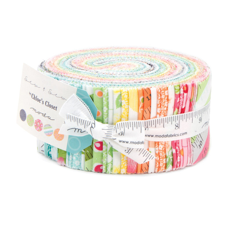 Sew & Sew Collection by Chloe's Closet for Moda Fabrics is a delicious array of colours and designs that are sure to make your quilt or project pop!