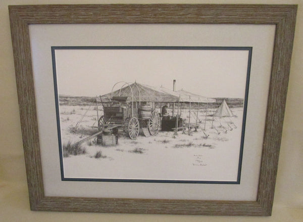 10586 Brian Asher Limited Edition Lithograph Framed Under Glass