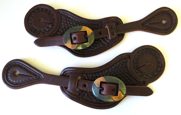 10001 New Handmade RACHEL SCRIBNER Pass Through Spur Straps JUSTIN ERICKSON Buckles