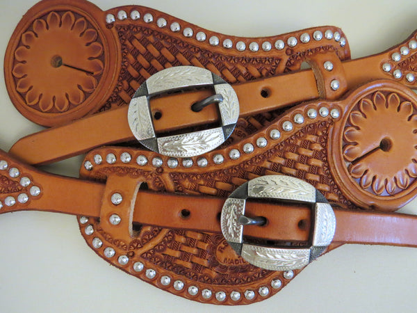 9346 New Handmade RACHEL SCRIBNER Pass Through Spur Straps DAVID HUNT Buckles