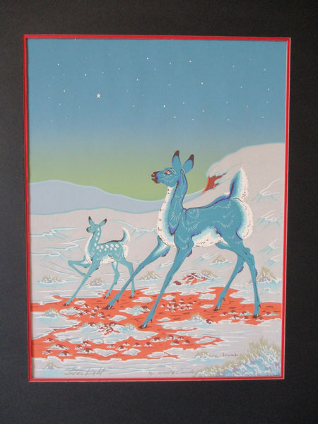 10444 Native American Woody Crumbo Star Light Silk Screen Print