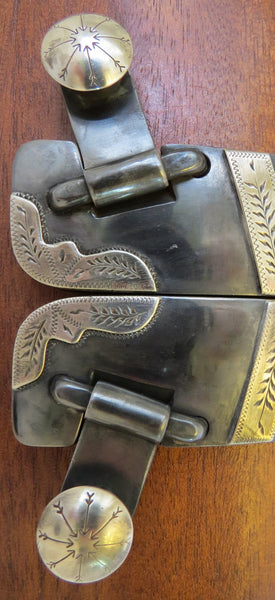 10065 New Handmade PAT RAY CASTLEBERRY Double Mounted Spurs