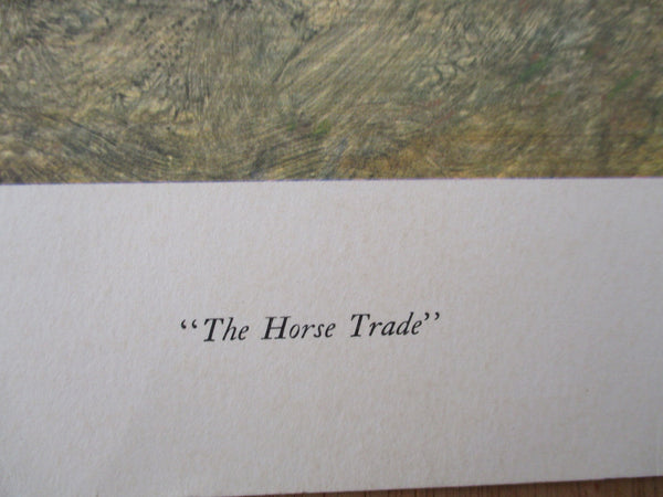 "10580 Peter Hurd Lithograph Titled ""The Horse Trade"""