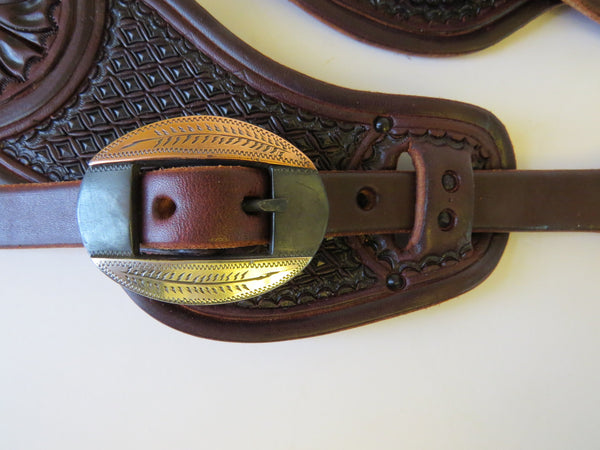10000 New Handmade RACHEL SCRIBNER Pass Through Spur Straps JUSTIN ERICKSON Buckles
