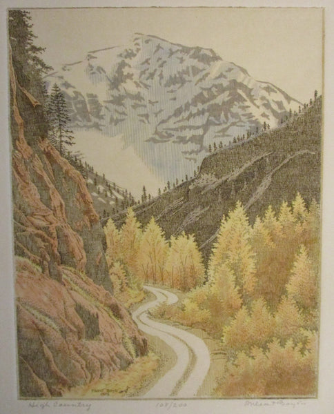 "10569 PHLEAT BOYD Limited Edition Etching Western Art ""High Country"""