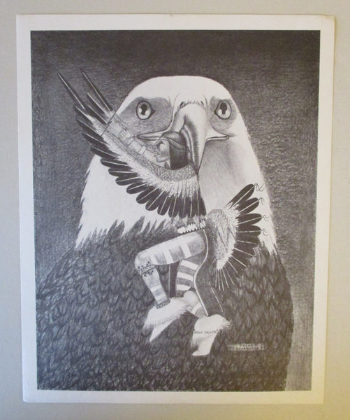 "10577 Frank Nevaquaya Limited Edition Print Titled ""Eagle Salute"""