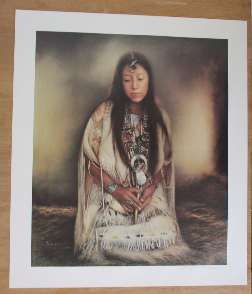 "10581 Mimi Jungbluth Limited Edition Lithograph Titled ""Home of White Painted Woman"""