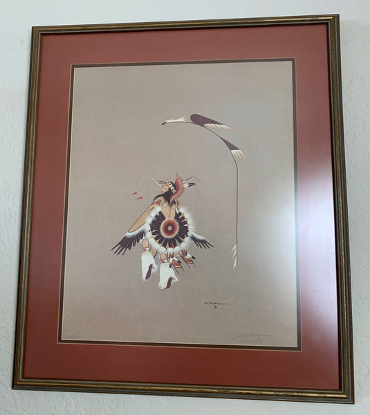 10735 Framed Doc Tate Nevaquaya Limited Edition Offset Lithograph