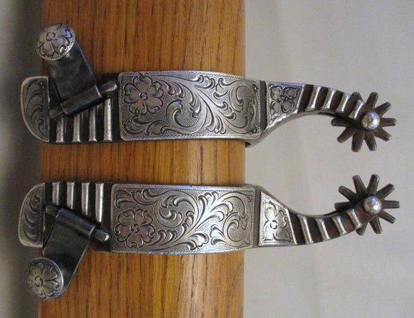 10614 DENNIS MARKLE Sterling Silver Mounted Ladies Spurs