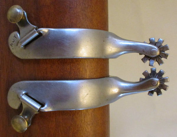 10644 Handmade ROY ROBINSON Stainless Roping Spurs