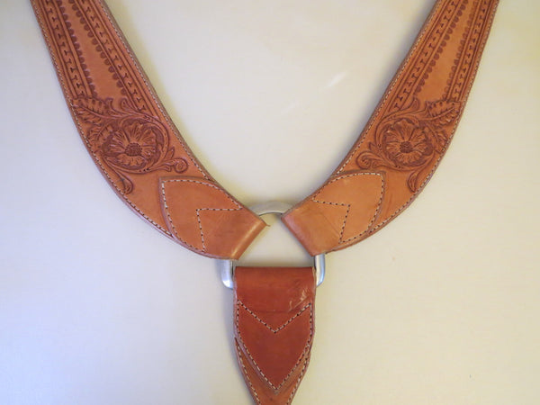 9258 New Handmade WOLVERINE LEATHER Tooled Heavy Duty PULLING COLLAR