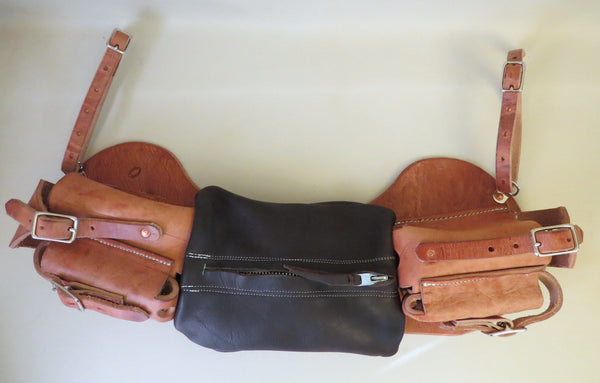 9269 New Handmade TIPTON LEATHER Cantle Medicine Bags
