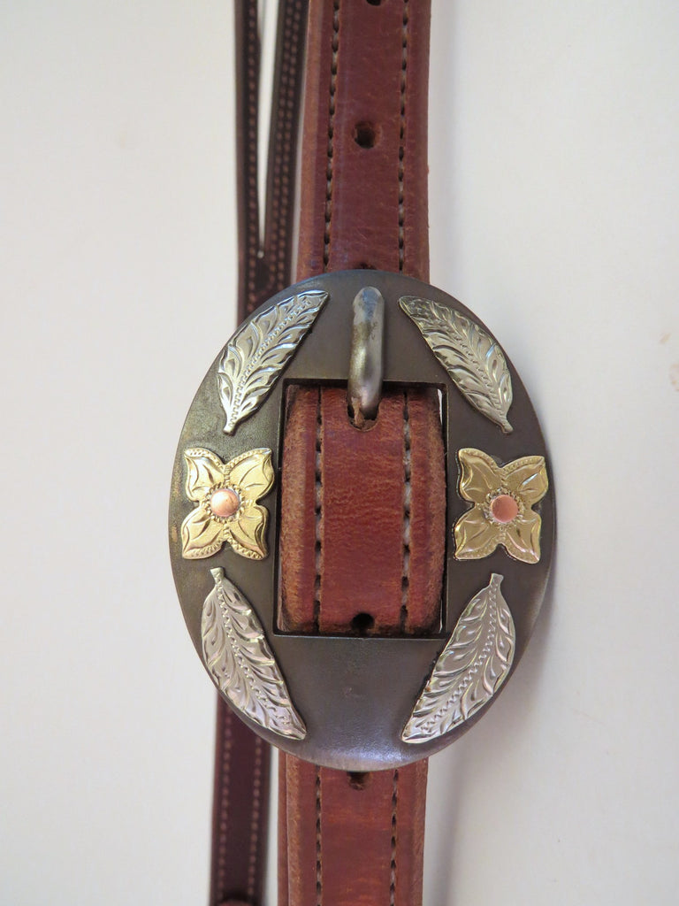 "10051 New Handmade RON CARLTON Lined Stitched ¾"" Headstall DON ROGERS Buckle"