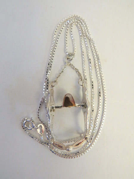 10059 Vintage New Old Stock California Style Bit Pendant Sterling Chain Necklace