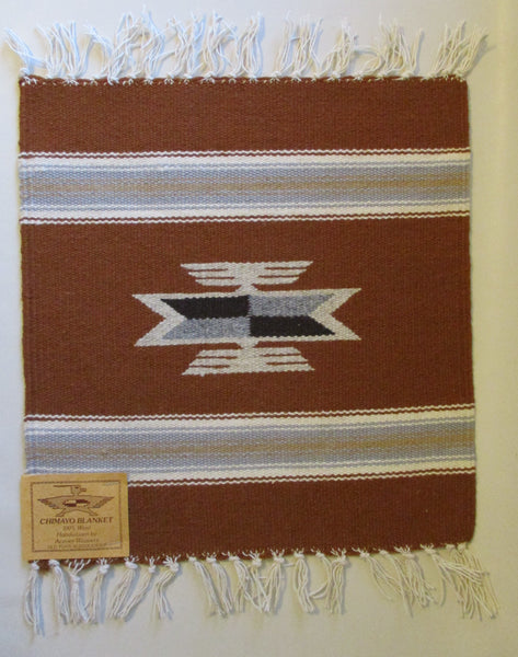 "10914 New Old Stock Aceves Weavers Chimayo Southwest Wool Blanket 15"" X 15"""
