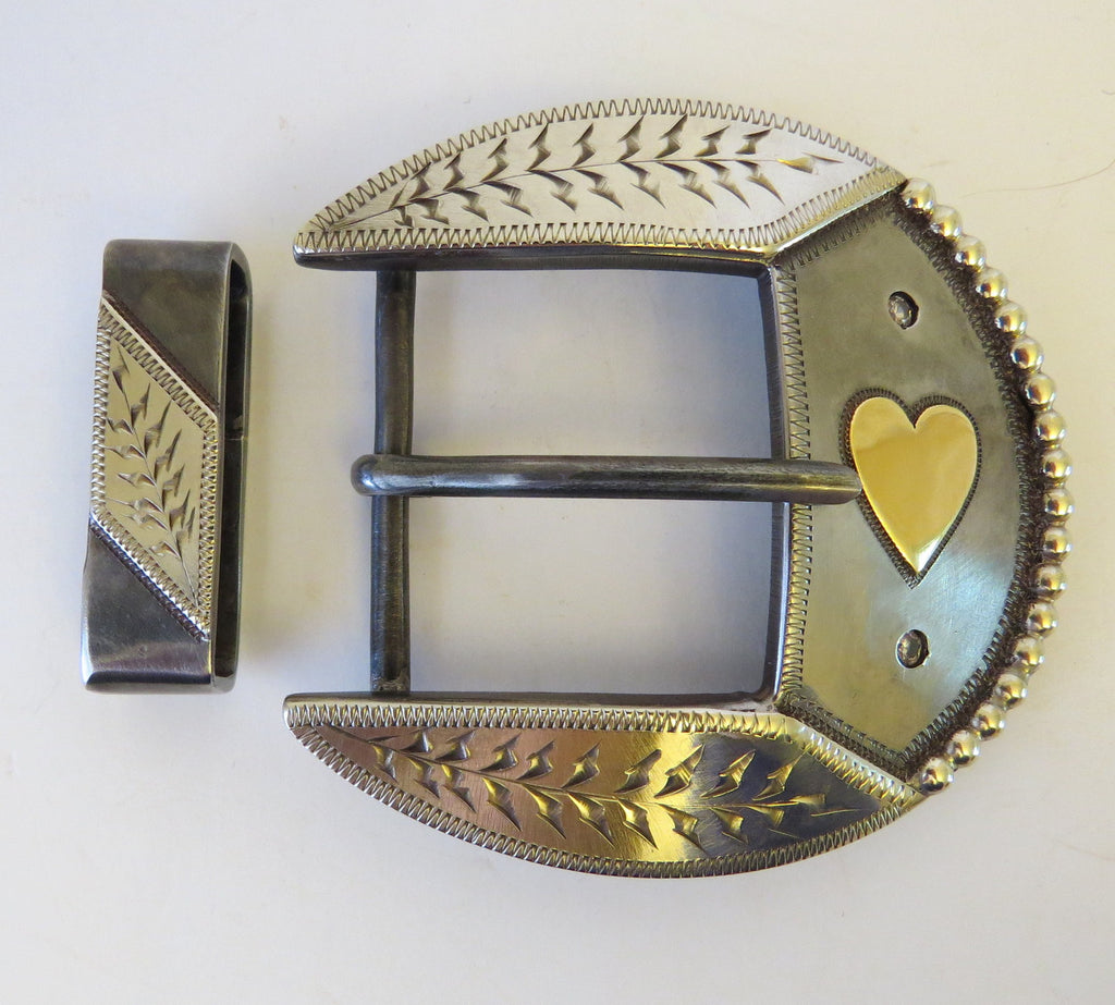 "10061 New Handmade RAY CASTLEBERRY Ladies 1 ½"" Belt Buckle"