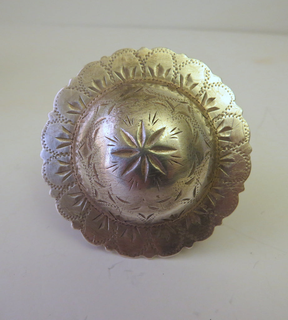 10116 Vintage Visalia Saddle Co. Sterling Silver Big Concho Belt Buckle
