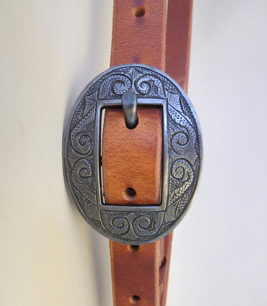 "9401 New Handmade GRUMPY OLD COWBOY ¾"" Harness Headstall DAVID HUNT Buckle"