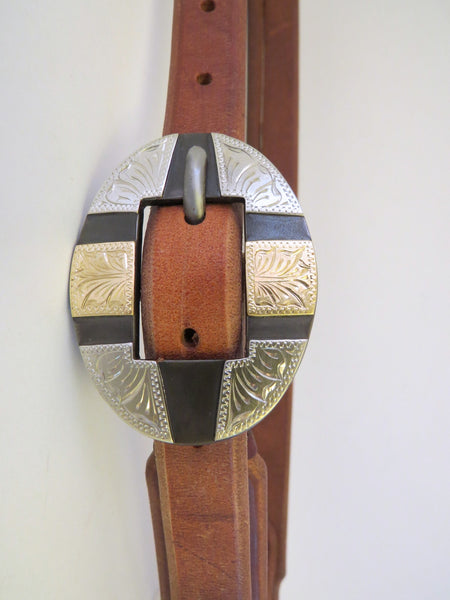 10201 New Handmade RON CARLTON Harness Headstall DON ROGERS Buckle