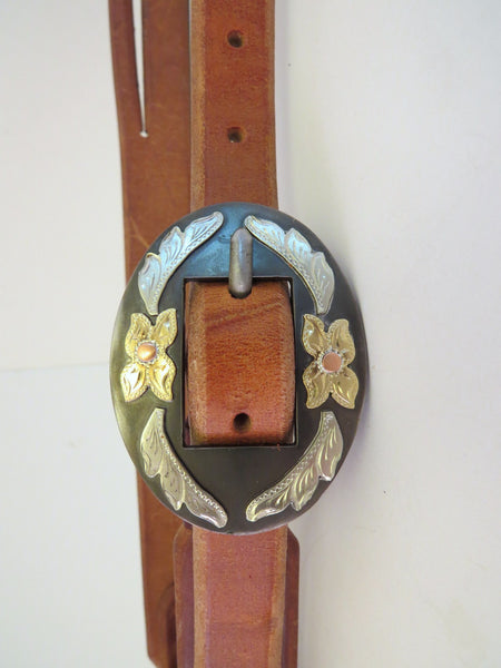 10203 New Handmade RON CARLTON Harness Headstall DON ROGERS Buckle