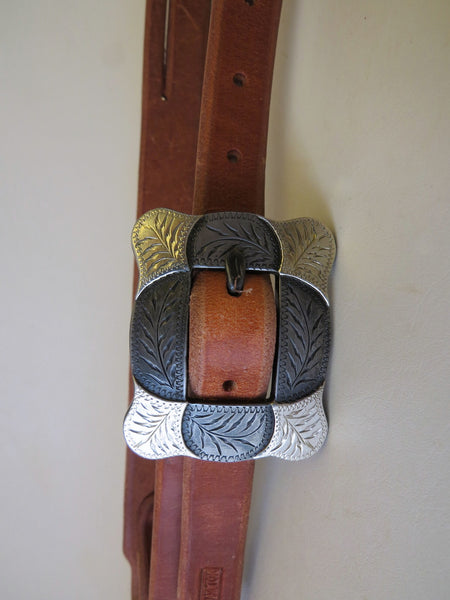 10205 New Handmade RON CARLTON Harness Split Ear Headstall DAVID HUNT Buckle