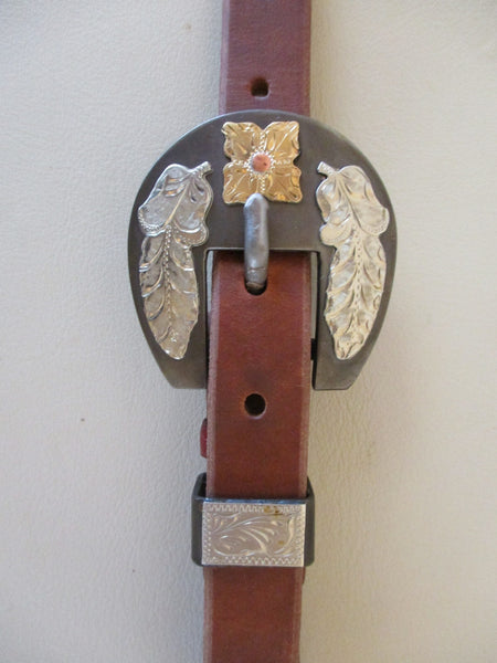 "10280 New Handmade GRUMPY OLD COWBOY ¾"" Heavy Harness Headstall DON ROGERS Buckle"