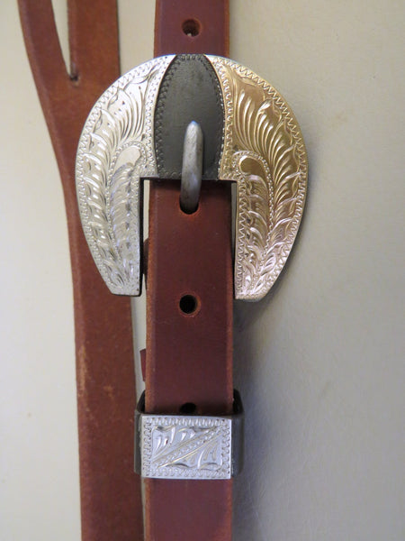 "9554 New Handmade GRUMPY OLD COWBOY ¾"" Heavy Harness Headstall DON ROGERS Buckle"