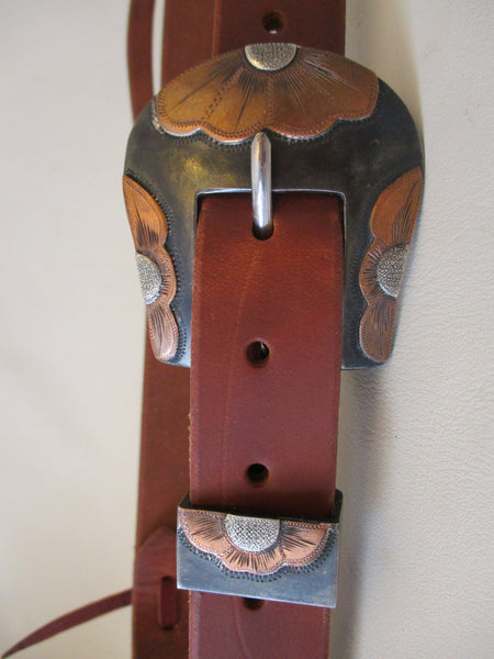 "10306 New Handmade GRUMPY OLD COWBOY 1"" Harness Slot Ear Headstall STEPHEN WHITE Buckle"