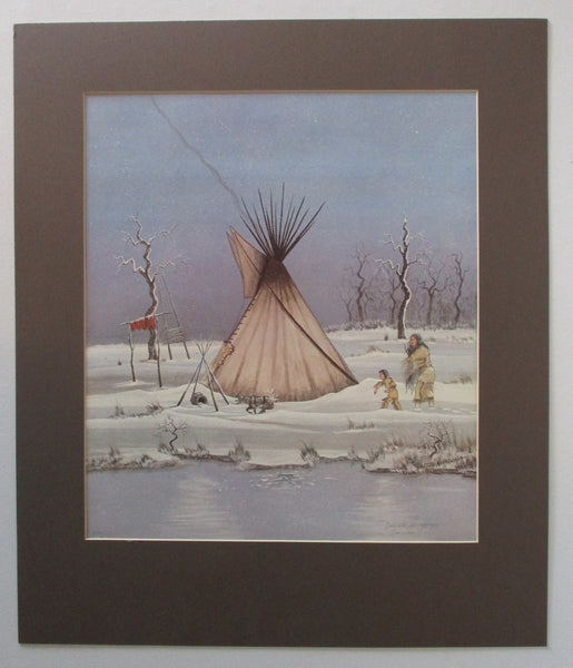 "10453 Doc Tate Nevaquaya Limited Edition Offset Lithograph ""First Winter"""