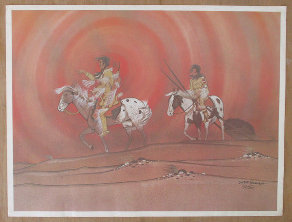 "10579 Doc Tate Nevaquaya Limited Edition Lithograph ""Sandstorm"""