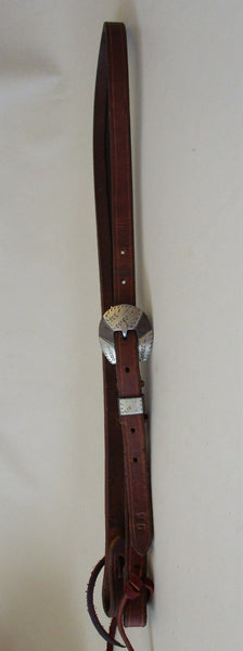 10307 Handmade JAKE DUCKWORTH Heavy Harness Split Ear Headstall ROBERT EVANS Buckle