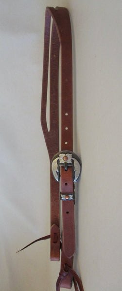 "10325 New Handmade GRUMPY OLD COWBOY ¾"" Harness Headstall DAVID HUNT Flower Buckle"