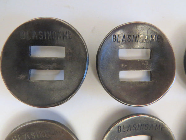 "10037 Set of Six New Handmade CECIL BLASINGAME 1 ¼"" Slotted Conchos"