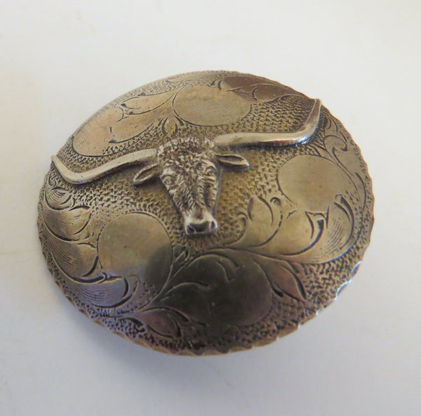 10080 Pair of New JACK FERGUSON Longhorn Loop Back Conchos
