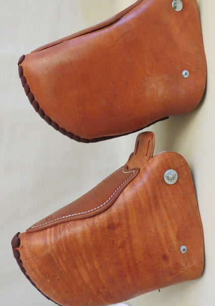 9315 New Handmade TIPTON LEATHER Rough Out Tapaderos Taps