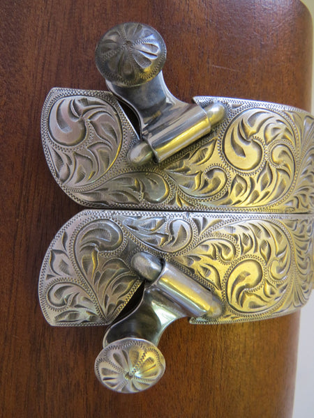 10130 Handmade FLEMING Sterling Silver Mounted Spurs