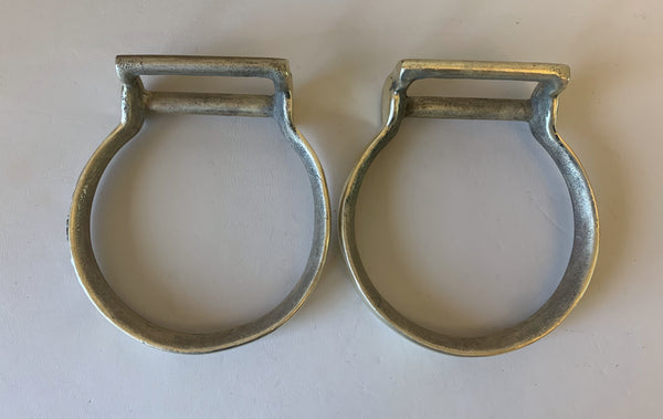 10687 Vintage Brass Oxbow Stirrups Mounted by David Hunt