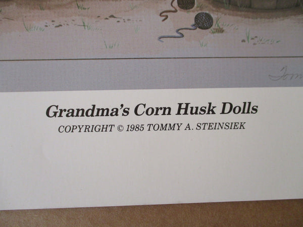 "10585 Tommy Steinsiek Limited Edition Lithograph ""Grandma's Corn Husk Dolls"""