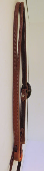 "10054 New Handmade RON CARLTON Lined Stitched ¾"" Headstall DON ROGERS Buckle"
