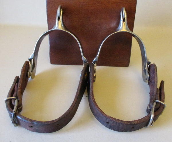10639 Handmade ROY ROBINSON Stainless Polo Spurs and Straps