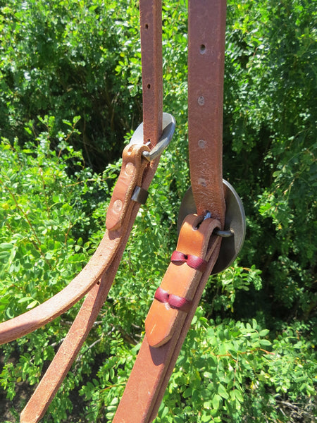 New Handmade GRUMPY OLD COWBOY Heavy Harness Browband Headstall with ROBERT EVANS BUCKLES